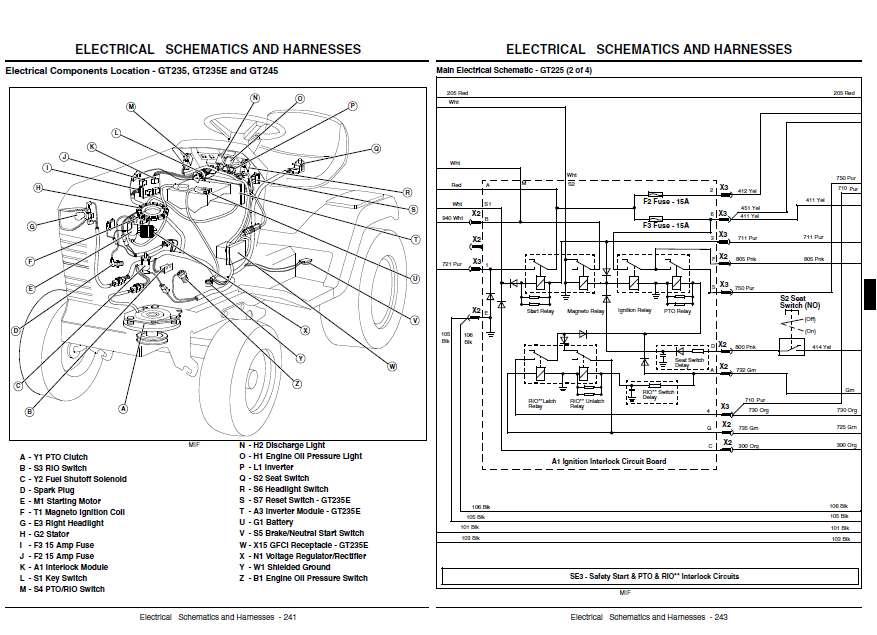 31 John Deere Gt235 Parts Diagram Manual Guide