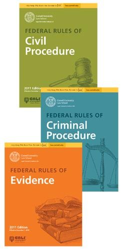 Free Federal Rules eBooks from CALI