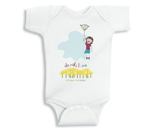 Dandelion baby onesie on Cool Mom Picks