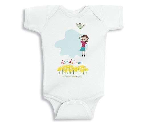Dandelion baby onesie on Cool Mom Picks