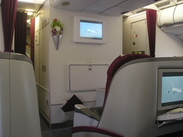Qatar airways madrid doha in business class for Oficina qatar airways madrid