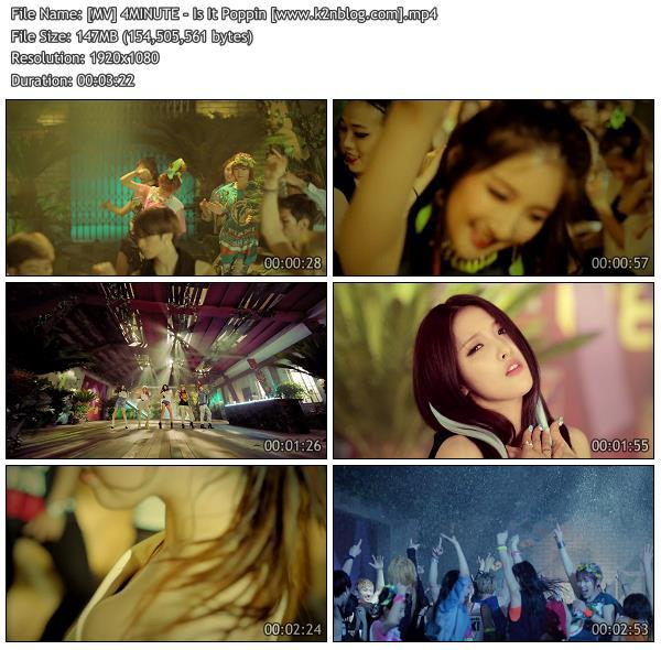 [MV] 4MINUTE - Is It Poppin [HD 1080p Youtube]