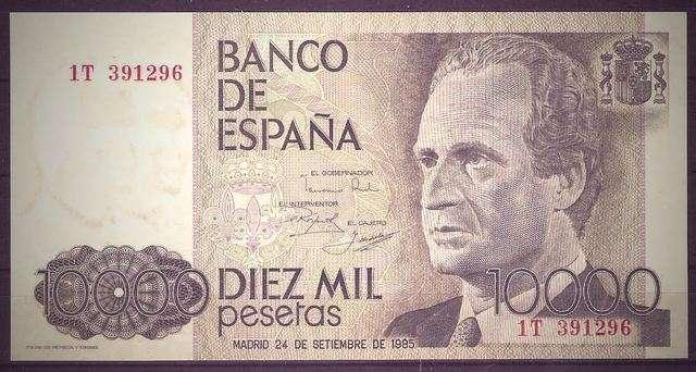 Noticias Curiosas - Billete de 10.000 pesetas