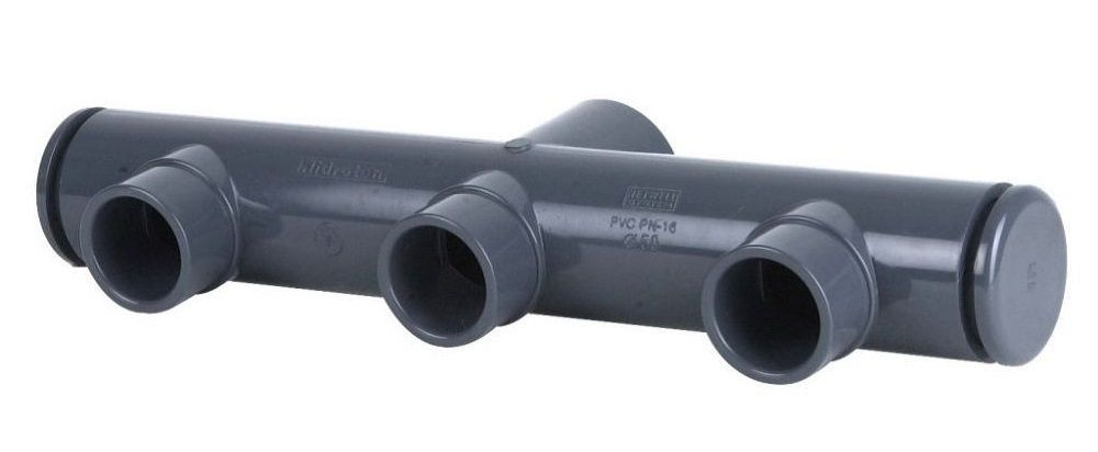 Collecteur pvc 50 piscine coller pression raccord for Raccord pvc piscine 50