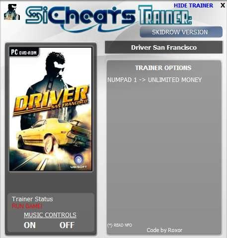 код на деньги на игру driver san francisco