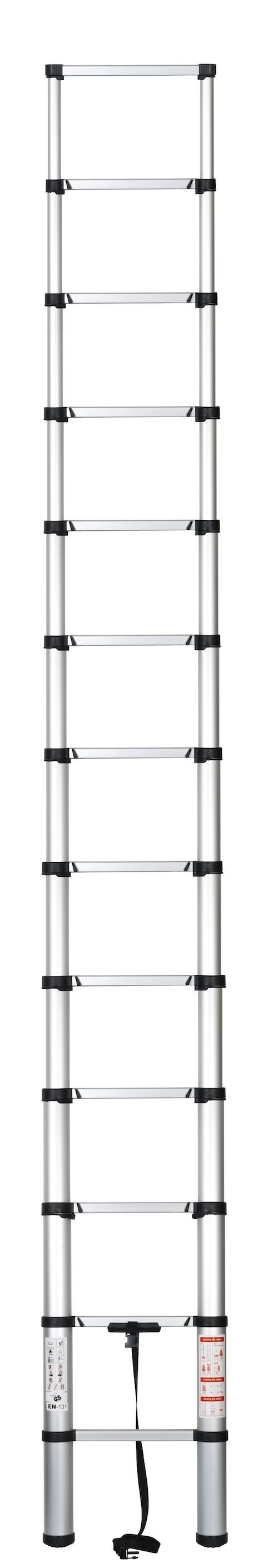 echelle telescopique securite aluminium 3 81m neuf pro. Black Bedroom Furniture Sets. Home Design Ideas